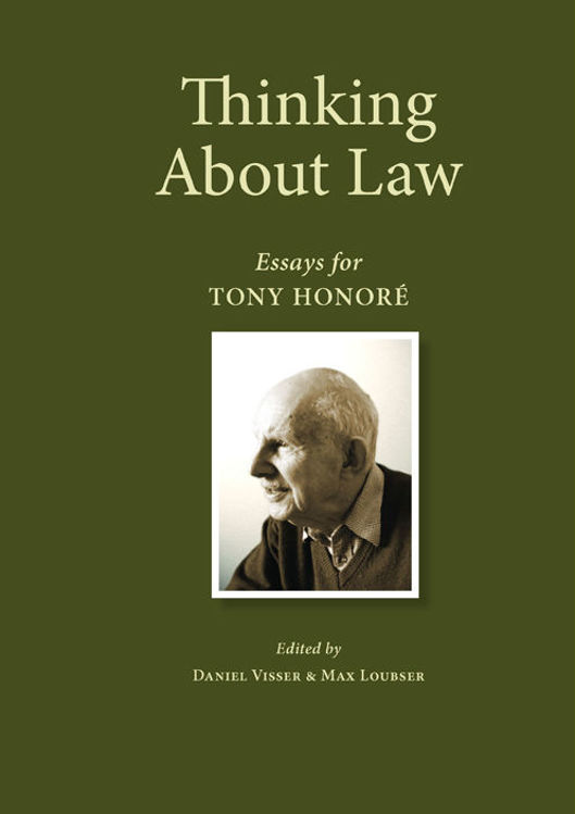 Picture of Thinking about Law: Essays for Tony Honoré Ebook