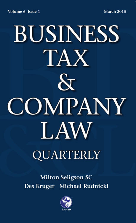 Picture of Business Tax and Company Law Quarterly